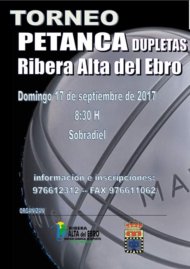 Torneo Petanca dupletas