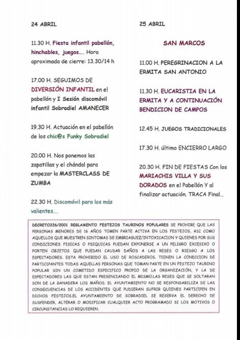 Fiestas San Marcos - Sobradiel 2018 - 4
