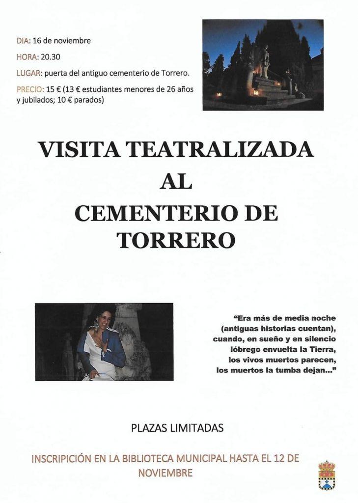 Visita teatralizada al cementerio de Torrero