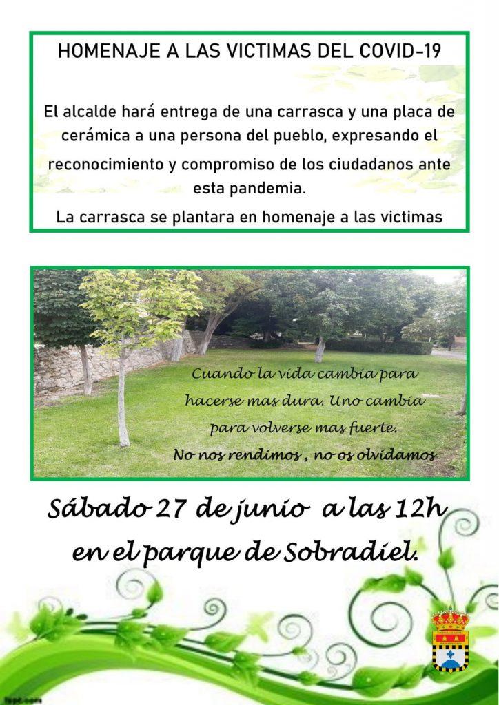 Homenaje a las víctimas COVID-19