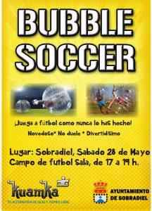 cartel Bubble Soccer sobradiel